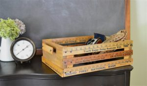wooden ruler crate